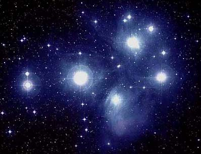 The Pleiades, the beautiful constellation of 'The Seven Sisters', were important to the ancient civilizations
