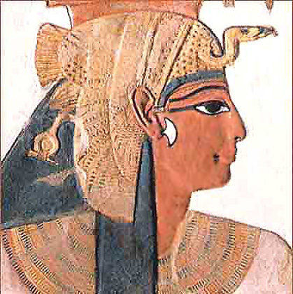 Egyptian queens and crownprincesses played the goddess Isis' role at the ceremonials. - Pharaoeh's Daughter did likewise when she received the infant Moses from the river Nile