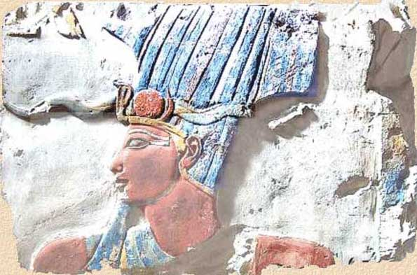 Pharaoh Thuthmosis II wearing the Atef-crown